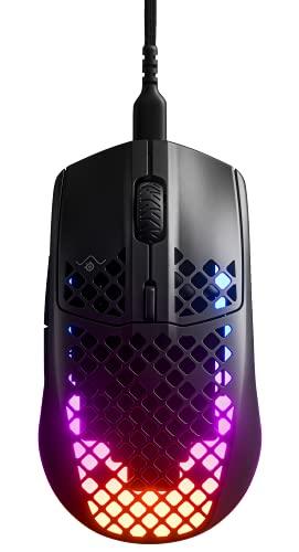 SteelSeries 62599 Aerox 3 - Superleichte Gaming-Maus - Optischer TrueMove Air Sensor mit 18 CPI - 200 Stunden Akkulaufzeit - Schwarz