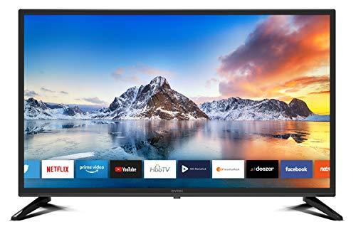 DYON Smart 32 XT 80 cm (32 Zoll) Fernseher (HD Smart TV, HD Triple Tuner (DVB-C/-S2/-T2), Prime Video, Netflix, YouTube & HbbTV, WLAN, Hotel Modus)