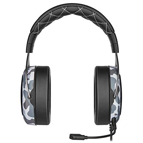 Corsair HS60 Haptic Stereo Gaming Headset mit Haptic Bass, Memory Foam Ohrmuscheln, abnehmbares Mikrofon, Windows Sonic kompatibel, Discord-Zertifiziert für PC
