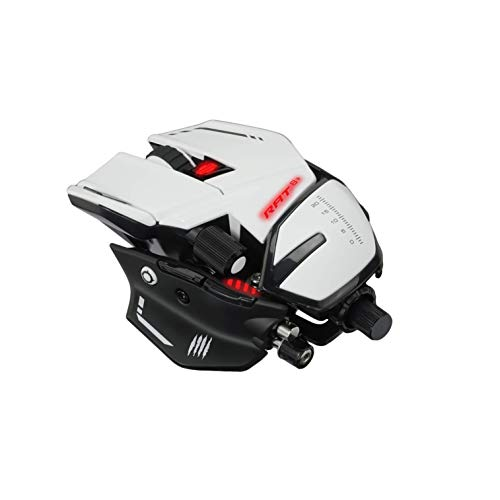 MadCatz R.A.T. 8+ Optical Gaming Mouse, White