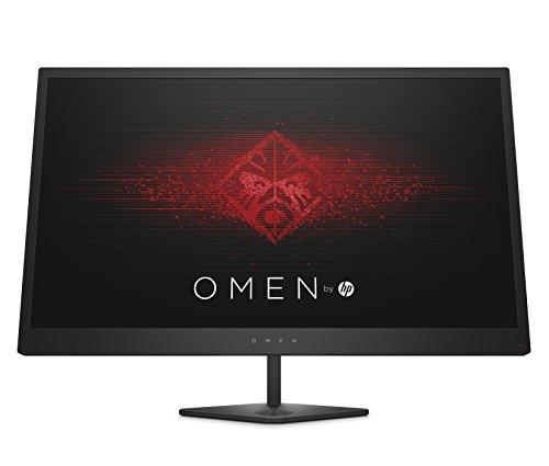OMEN 25 Gaming Monitor - 25 Zoll Bildschirm, Full HD Display, 144Hz, AMD FreeSync Premium, 2xHDMI, DisplayPort, 3xUSB, Audio Out, Reaktionszeit 1ms, schwarz
