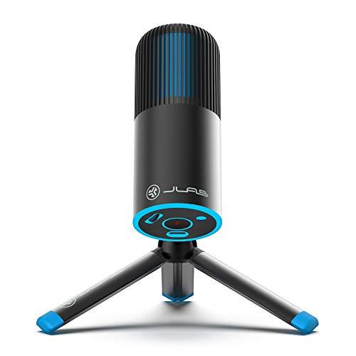 JLab Audio Talk GO USB Mikrofon PC Plug und Play mit USB-C, Lautstärkeregelung und Stummschaltung – Streaming Mikrofon Stativ, Podcast Mikrofon, Gaming Mikrofon