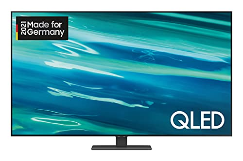 Samsung QLED 4K TV Q80A 65 Zoll (GQ65Q80AATXZG), Quantum HDR 1500, Direct Full Array, Game Pro Mode [2021],Nachtschwarz