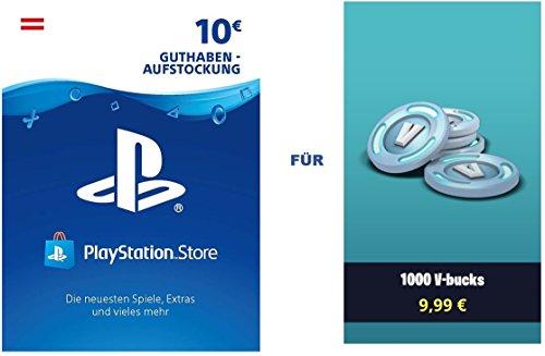 PSN Guthaben für Fortnite - 1.000 V-Bucks - 1.000 V-Bucks DLC | PS4 Download Code - österreichisches Konto