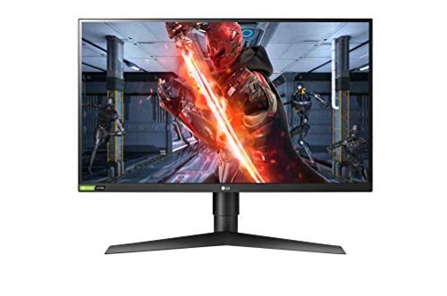 LG 27GN750-B 68,58 cm (27') UltraGear™ IPS Gaming Monitor (240 Hz, 1 ms, HDR, 2x HDMI, Display Port, USB 3.0, Adaptive Sync und Nvidia G-Sync kompatibel), schwarz