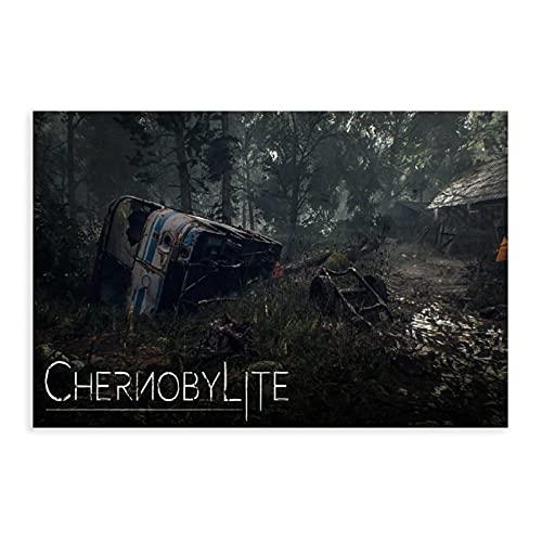 NHYTR Chernobylite Videospiel-Poster 3 Leinwand-Poster, Wandkunst, Deko, Bild, Gemälde für Wohnzimmer, Schlafzimmer, Dekoration, 30 x 45 cm, ohne Rahmen:
