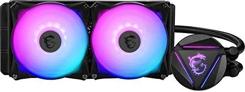 MSI MAG CORELIQUID 240R CPU-Wasserkühlung (240 mm, 2 Lüfter, Intel 115x/1200, AMD AM4/AM3+/TR4, schwarz, RGB)