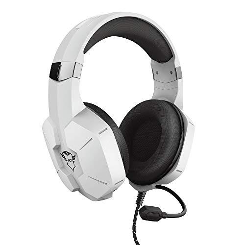 Trust Gaming Headset für PS4 und PS5 GXT 323W Carus - Kabelgebundene Gaming-Kopfhörer mit Mikrofon für Playstation 4/5, Einstellbarer Kopfbügel, Komfortable Ohrpolster - Weiß, one size