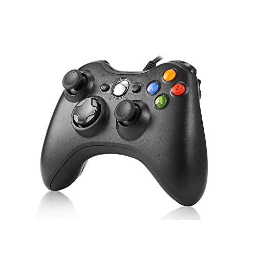 JAMSWALL USB Controller für Xbox 360, Kabelgebundene USB Gamepad Controller für Microsoft Xbox 360 PC Windows7 XP