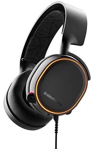 SteelSeries Arctis 5 - Gaming Headset - RGB-Beleuchtung - DTS Headphone:X v2.0 Surround - für PC, PlayStation 5 und PS4 - Schwarz