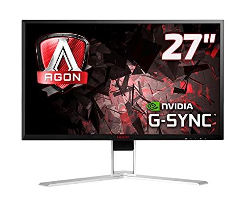 AOC AGON AG271QG - 27 Zoll QHD Gaming Monitor, 165 Hz, 4ms, G-Sync (2560x1440, HDMI, DisplayPort, USB Hub) schwarz/rot