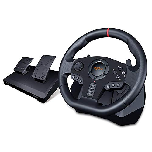 PXN V900 PC Gaming Racing Wheel Lenkräder | Universal USB Car Sim 270/900 Grad Rennlenkrad mit Pedalen für Playstation 3, Playstation 4, XBOX ONE, Nintendo Switch