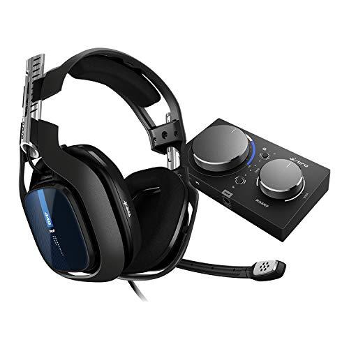ASTRO Gaming A40 TR, Gaming-Headset mit Kabel, MixAmp Pro TR, ASTRO Audio V2, Dolby Audio, Austauschbares Mikrofon, Game/Voice Balance Control, für PS5, PS4, PC, Mac - Schwarz/Blau