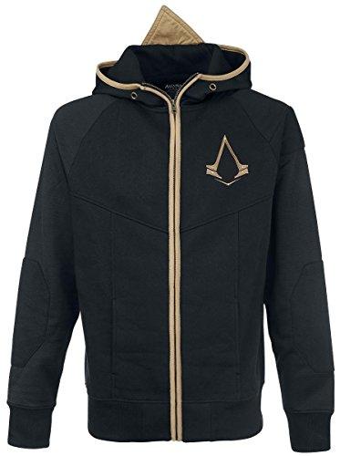 Assassins Creed Syndicate Kapuzen Jacke mit Bronze Logo Schwarz