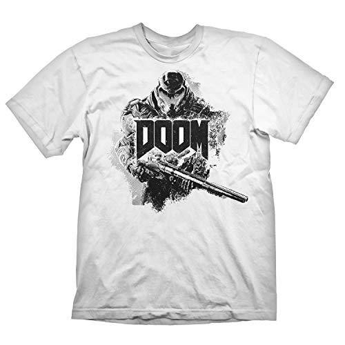 DOOM Eternal T-Shirt 'Doomslayer Stencil' White M