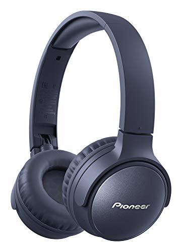 Pioneer S6 Wireless ANC Kopfhörer (faltbar, Geräuschunterdrückung, 30 Stunden Wiedergabe, Schnellladefunktion, Sprachassistenz, Bluetooth 5.0), Blau