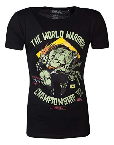 Street Fighter The World Warrior Männer T-Shirt schwarz S 100% Baumwolle Esports, Fan-Merch, Gaming