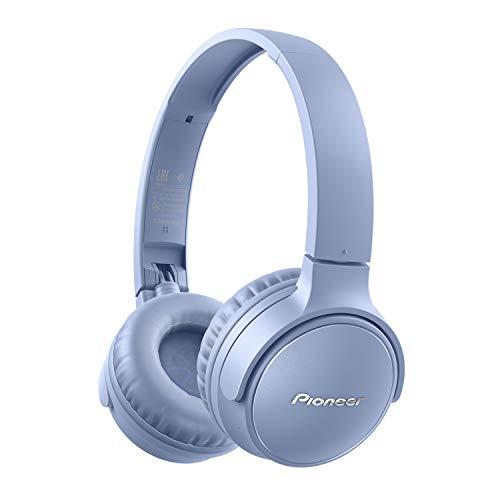 Pioneer S3 Wireless On-Ear Bluetooth 5.0 Kopfhörer (faltbar, 25 Stunden Akku, Schnellladefunktion, Freisprecheinrichtung, Lautstärkenregelung), Blau