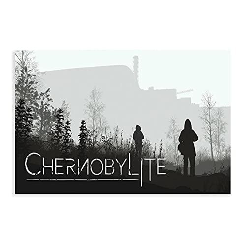 PThome05 Chernobylite Videospiel-Poster 6 Leinwand-Poster, Wandkunst, Dekordruck, Bilder für Wohnzimmer, Schlafzimmer, Dekoration, 30,5 x 45,7 cm