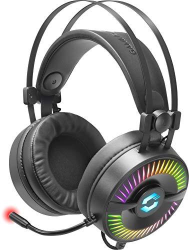 Speedlink QUYRE RGB 7.1 Gaming Headset - individualisierbarer Sound - RGB-Beleuchtung für PC/Notebook/Laptop, schwarz