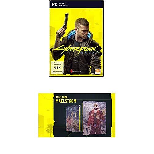 CYBERPUNK 2077 - DAY 1 Edition - [PC] + Steelbook + Cyberpunk 2077 - Das offizielle Buch – Collector's Edition
