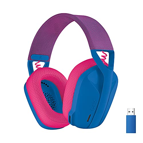 Logitech G435 Lightspeed Kabelloses Bluetooth-Gaming-Headset - Leichte Over-Ear-Kopfhörer, Integrierte Mikrofone, 18h Akku, Kompatibel mit Dolby Atmos, PC, PS4, PS5, Handy - Blau