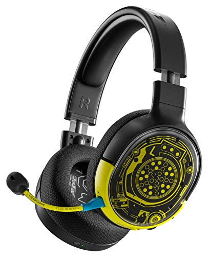SteelSeries Arctis 1 Wireless – Wireless Gaming Headset – USB-C Abnehmbares – für PC, PS4, Nintendo Switch, Android – Cyberpunk 2077 Netrunner Edition