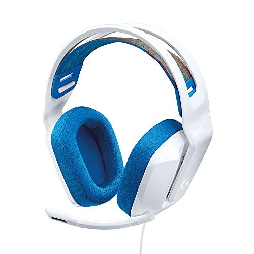 Logitech G335 Kabelgebundenes Gaming-Headset, Flip-to-Mute-Mikrofon, 3,5 mm Audioanschluss, Memory-Schaum-Ohrpolster, Leicht, Kompatibel mit PC, PlayStation, Xbox, Nintendo Switch - Weiß