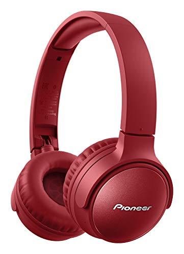 Pioneer S6 Wireless ANC Kopfhörer (faltbar, Geräuschunterdrückung, 30 Stunden Wiedergabe, Schnellladefunktion, Sprachassistenz, Bluetooth 5.0), Rot