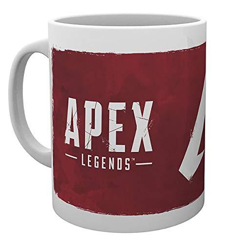 Close Up Apex Legends Tasse Logo - weiß, Bedruckt, 100% Keramik, Fassungsvermögen ca. 330 ml.