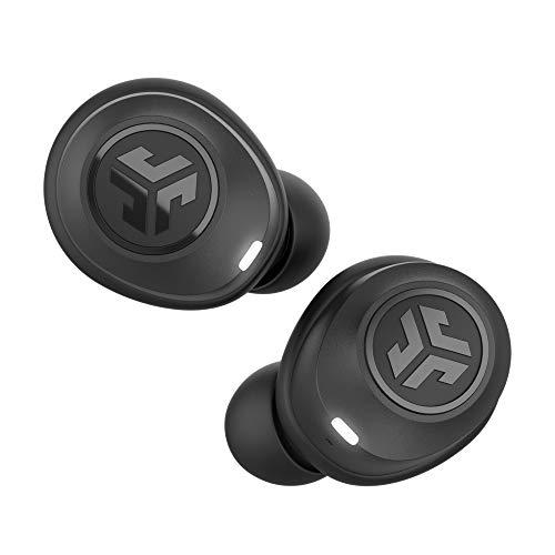 JLab Audio JBuds Air True Wireless Earbuds, In-Ear Bluetooth Kopfhörer mit USB Ladebox, IP55 Schweißresistenz und Einstellbarer Custom EQ3 Sound, Schwarz