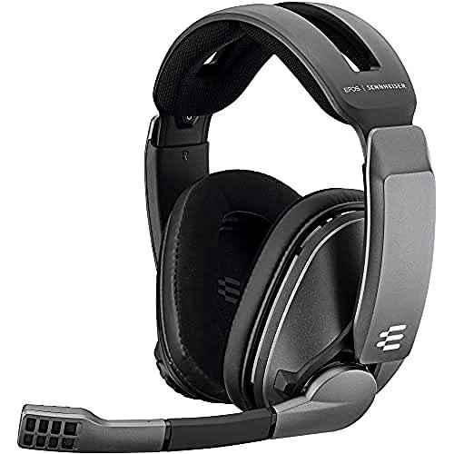 EPOS   Sennheiser GSP 370 Wireless Gaming Headset Kopfhörer, 100 h Akku, Verzögerungsfreies Geräuschunterdrückendes Mikrofon Flip-to-Mute, Ohrpolster Digitaler 7.1-Surround-Sound für PC Mac PS5 & PS4