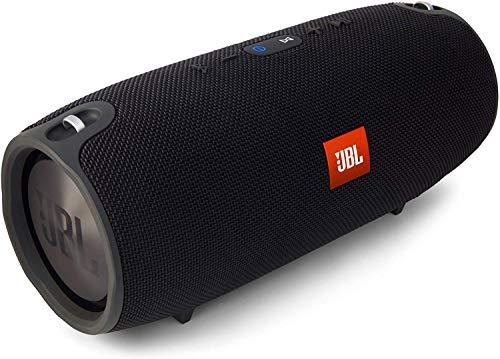JBL Xtreme Spritzwasserfester Tragbarer Bluetooth Lautsprecher mit 10, 000 mAh Akku, Dualem USB-Ladeanschluss und Freisprechfunktion