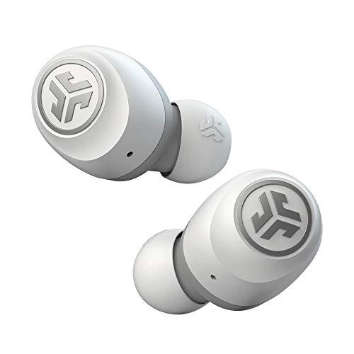 JLab Audio Go Air True Wireless Earbuds, In-Ear Bluetooth Kopfhörer und USB Ladebox mit Dual Connect, Einstellbarer Custom EQ3 Sound, Schlankes Profil für Höchsten Tragekomfort, Weiß