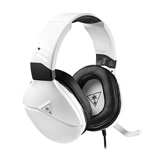 Turtle Beach Recon 200 Weiß Gaming-Kopfhörer mit Verstärker - PS5, PS4, Xbox Series X|S, Xbox One, Nintendo Switch und PC