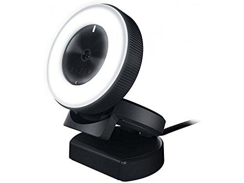 Razer Kiyo - Streaming-Kamera mit Ring-Beleuchtung (USB Webcam, HD-Video 720p, 60 FPS, kompatibel mit Open Broadcaster Sofware, Xsplit, Autofokus, Kamera-Clip, Stativ-Anschluss)
