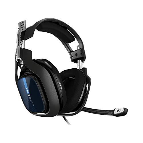 ASTRO Gaming A40 TR Gaming-Headset mit Kabel, ASTRO Audio V2, 3,5mm Anschluss, Austauschbares Mikrofon, für Xbox X|S, Xbox One, PS5, PS4, PC, Mac, Nintendo Switch - Schwarz/Blau