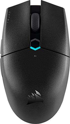 Corsair KATAR PRO WIRELESS Gaming-Maus (10.000 DPI Optischer Sensor, Symmetrische Form, Unter 1 ms Wireless-Technologie, Akkulaufzeit von bis zu 135 Stunden, Sechs Programmierbare Tasten) Schwarz