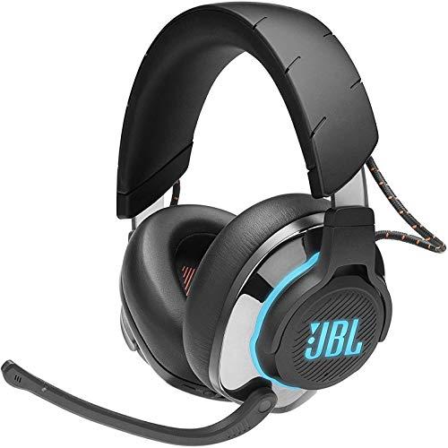 JBL Quantum 800 Over-Ear Gaming Kopfhörer – Wireless 2,4 GHz und 3,5 mm Klinke – Mit QuantumSurround Sound – Kabellose Verbindung mit vielen Plattformen – Schwarz