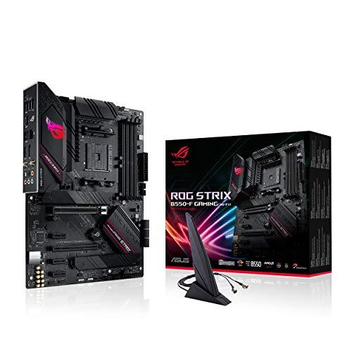 ASUS ROG Strix B550-F Gaming (Wi-Fi) Mainboard Sockel AM4 (ATX, Ryzen, PCIe 4.0, WiFi6, Intel 2,5 Gbit/s-Ethernet, 2x M.2 mit Kühlern, SATA 6Gbit/s, USB 3.2 Gen 2, Aura Sync)
