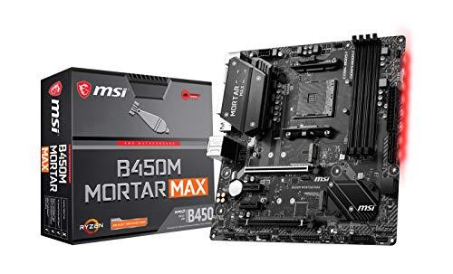 MSI B450M MORTAR MAX AMD AM4 DDR4 m.2 USB 3.2 Gen 2 HDMI M-ATX Gaming Motherboard