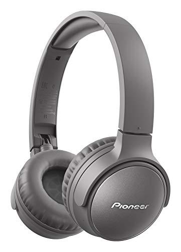 Pioneer S6 Wireless ANC Kopfhörer (faltbar, Geräuschunterdrückung, 30 Stunden Wiedergabe, Schnellladefunktion, Sprachassistenz, Bluetooth 5.0), Grau