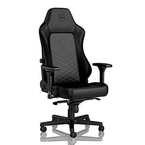 noblechairs Hero Gaming Stuhl - Bürostuhl - Schreibtischstuhl - PU-Kunstleder - Inklusive Kissen - Schwarz