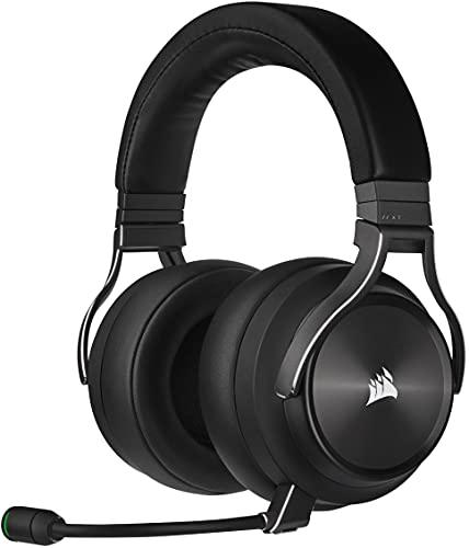 Corsair VIRTUOSO RGB WIRELESS XT Hi-Fi-Gaming-Headset mit Räumlichem Klang (Gleichzeitige Dual-Wireless-Verbindungen, PC, Mac, PS5, Xbox Series X S, Nintendo Switch & Mobile Kompatibilität) Schiefer