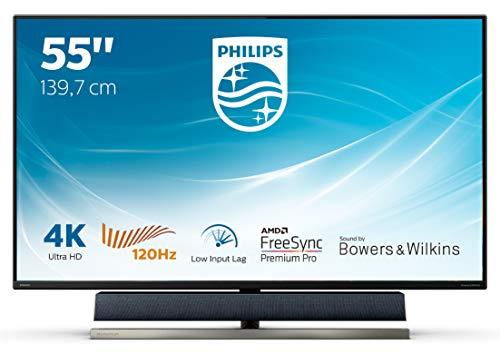 Philips 558M1RY 139 cm (55 Zoll) Gaming Monitor (HDMI, DisplayPort, USB Hub, 4ms Reaktionszeit, 3840 x 2160, 120 Hertz, FreeSync, Ambiglow) schwarz