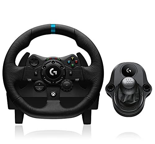 Logitech G923 Lenkrad m. Pedalen für Xbox und PC plus Driving Force Schalthebel