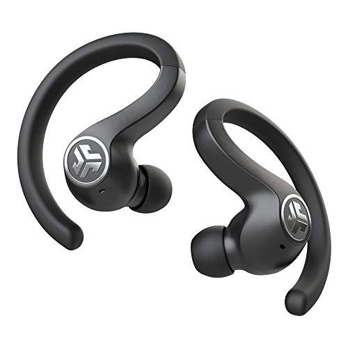 JLab Audio JBuds Air Sport True Wireless Kopfhörer, In-Ear Bluetooth Sportkopfhörer mit USB Ladecase, Be Aware Audio, IP66 Schweißresistenz und einstellbarer Custom EQ3 Sound, Schwarz