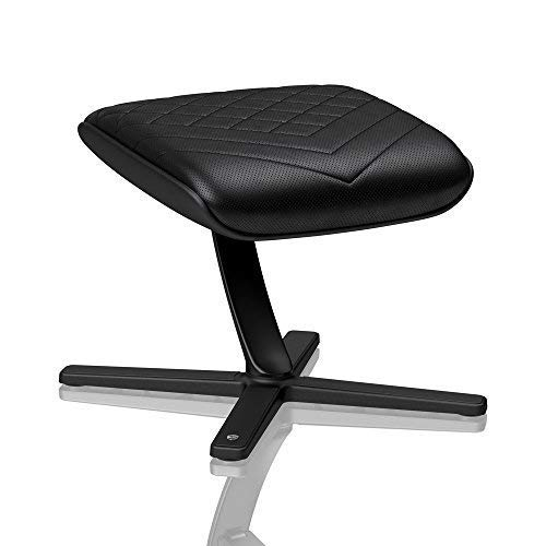 noblechairs Fußstütze für Gaming-Stühle/Bürostühle - PU-Kunstleder - Neigbar um 57° - Schwarz