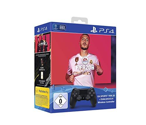 PlayStation 4 - DualShock 4 Wireless Controller (schwarz) inkl. FIFA 20
