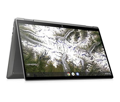 HP Plus Chromebook x360 14c-ca0235ng (14 Zoll / Full HD IPS Touch) 2in1 Laptop (Intel Core i3-10110U, 64 GB eMMC, 8 GB DDR4 RAM, Intel UHD Grafik, Chrome OS, QWERTZ) Silber